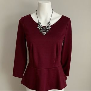 The Limited Peplum Top
